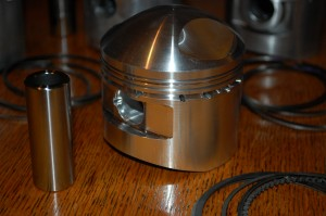 Sunbeam Model 90 forged piston, pin and rings